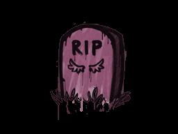 Запечатанный граффити | Надгробие (Нежный розовый)