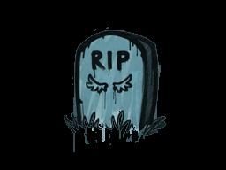 Запечатанный граффити | Надгробие (Пластиковый синий)