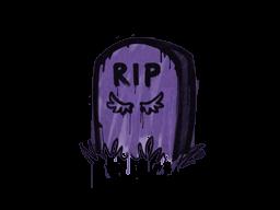 Запечатанный граффити | Надгробие (Жуткий фиолетовый)