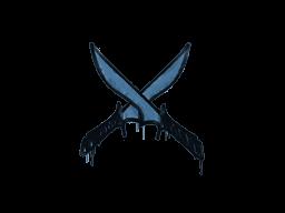 Запечатанный граффити | Скрещённые ножи (Королевский синий)