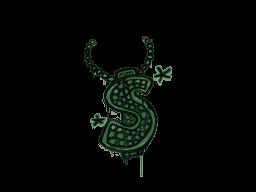 Запечатанный граффити | Побрякушка (Лесной зелёный)