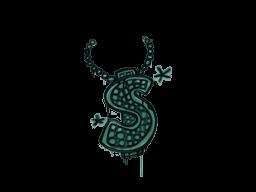 Запечатанный граффити | Побрякушка (Лягушачий зелёный)