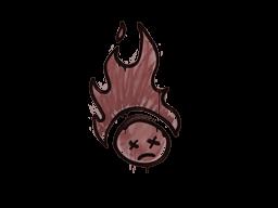 Запечатанный граффити | Поджаренный (Кирпичный красный)