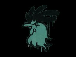 Запечатанный граффити   Задира (Лягушачий зелёный)