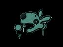 Запечатанный граффити | Песик (Лягушачий зелёный)