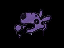 Запечатанный граффити | Песик (Жуткий фиолетовый)
