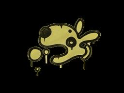 Zalakowane graffiti | Psiak (kreślarska żółć)