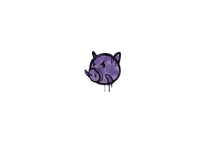 Sealed Graffiti Piggles Monster Purple