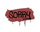 Sealed Graffiti | Sorry (Blood Red)