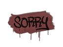 Sealed Graffiti | Sorry (Brick Red)