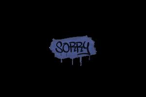 Sealed Graffiti Sorry Swat Blue