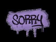 Zalakowane graffiti | Wybacz (brutalny fiolet)