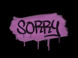 Zalakowane graffiti | Wybacz (róż bazooki)