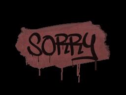 Запечатанный граффити | Прости (Кирпичный красный)