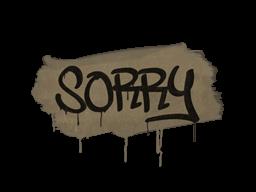 Запечатанный граффити | Прости (Пыльный коричневый)