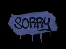 Запечатанный граффити | Прости (Полицейский синий)