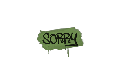 Sealed Graffiti | Sorry (Battle Green) Prices