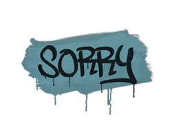 Запечатанный граффити | Прости (Пластиковый синий)