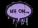 Sealed Graffiti   Uh Oh (Violent Violet)