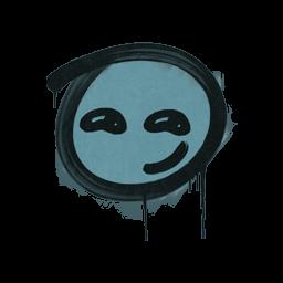 Sealed Graffiti | Smirk (Wire Blue)