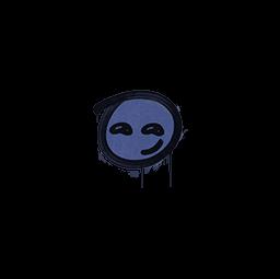 Sealed Graffiti   Smirk (SWAT Blue)
