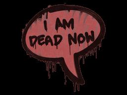 Запечатанный граффити | Наступила смерть (Кровавый красный)