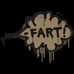 Sealed Graffiti   Fart (Dust Brown)