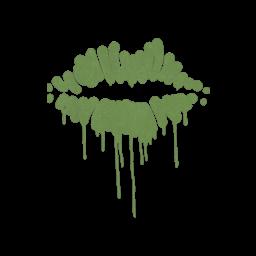 Sealed Graffiti | Kiss (Battle Green)