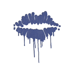 Sealed Graffiti | Kiss (SWAT Blue)