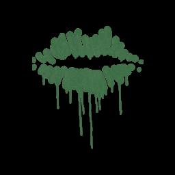 Sealed Graffiti | Kiss (Jungle Green)