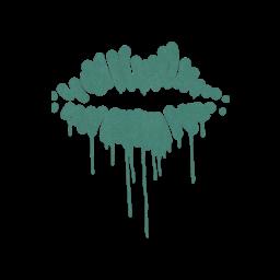 Sealed Graffiti | Kiss (Frog Green)