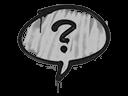 Sealed Graffiti | Question Mark (Shark White)