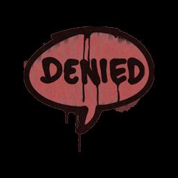 Sealed Graffiti | Denied (Blood Red)