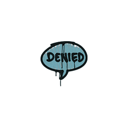 Sealed Graffiti | Denied (Wire Blue)
