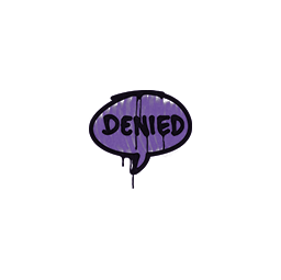 Sealed Graffiti | Denied (Monster Purple)