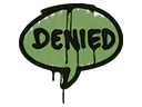 Sealed Graffiti   Denied (Battle Green)