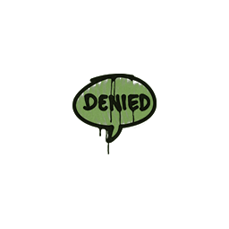 Sealed Graffiti | Denied (Battle Green)