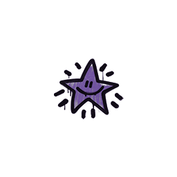 Sealed Graffiti | Shining Star (Monster Purple)