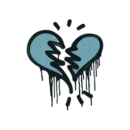 Sealed Graffiti | Broken Heart (Wire Blue)