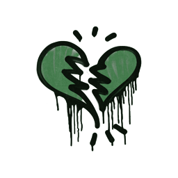 Sealed Graffiti | Broken Heart (Jungle Green)