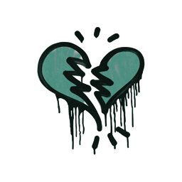 Sealed Graffiti | Broken Heart (Frog Green)