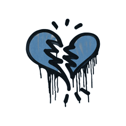 Sealed Graffiti | Broken Heart (Monarch Blue)