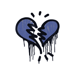 Sealed Graffiti | Broken Heart (SWAT Blue)