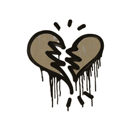 Sealed Graffiti | Broken Heart (Dust Brown)