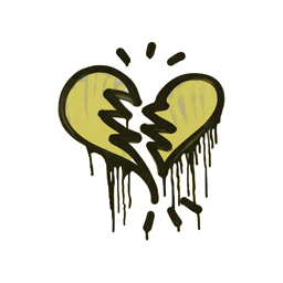 Sealed Graffiti | Broken Heart (Tracer Yellow)