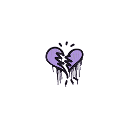 Sealed Graffiti | Broken Heart (Violent Violet)