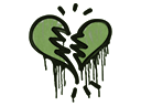 Sealed Graffiti   Broken Heart (Battle Green)