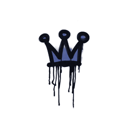 Sealed Graffiti | Little Crown (SWAT Blue)
