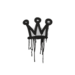Sealed Graffiti | Little Crown (Shark White)
