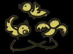 Sealed Graffiti   Dizzy (Tracer Yellow)